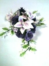 Lilac Rose and Orchid Sugar Flower Spray