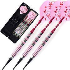 Professional Soft Tip Darts 17 Grams Pink Barrels For Girl Dart Set Lady Darts