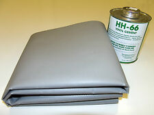 Vinyl Tarp Repair Kit, Grey 18 oz. Vinyl & 1 Quart HH-66 Adhesive