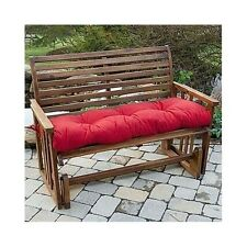 "2 Bench Swing Glider Cushions Tufted Thick Padding Outdoor Patio Porch 51"" Red"