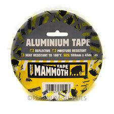 Everbuild aluminium bande 100mm x 45mtr la chaleur et la lumière ruban de feuille réfléchissante