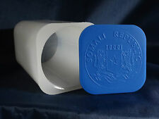 Somalia Elephant Tube, 1 oz Silver, African Wildlife Series, Blue Lid -No Coins