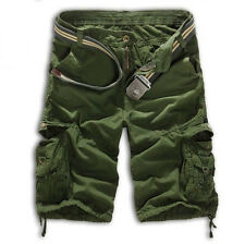 New Men Casual Work Shorts Pants Cotton Camo Military Army Combat Cargo Trousers