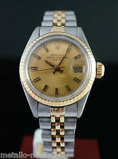 Very Nice  Rolex Oyster Perpetual Date Stahl- 18K Gold  Lady Watch Ref  6917