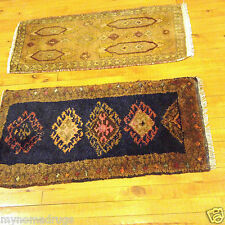 Two Genuine Antique 1900-1930s  Natural Dyes 1'6''x2'10'' Wool Pile Armenian Rug