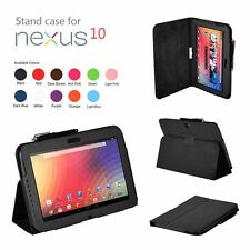 Black Folio Stand Dock Leather Case Cover for Samsung Google Nexus 10 Tablet Tab