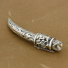925 Sterling Silver Horn Tusk CLAW TOOTH Mens Pendant 8P016D JP