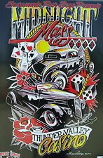 RAT HOT ROD VTG CAR SHOW POSTER LOWRIDER CUSTOM TATTOO ART MIDNIGHT MASS CLUB