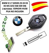 LLAVE FUNDA CARCASA BMW 3 5 7 SERIES Z3 Z4 X3 X5 M5 325i E38 E39 E46 HU58 ESPAÑA