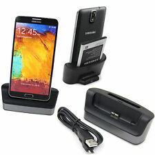 Dual USB Sync Battery Charging Cradle Dock Stand For Samsung Galaxy Note 3 N9000