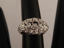Vintage Art Deco Diamond Ring 14K White Gold .21  Engagement Band H/VS Estate