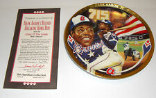 Vintage Hank Aaron Baseball Glory Of The Game Collector Plate Hamilton New