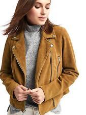 NWT Gap Suede Moto Jacket, Camel, sz S