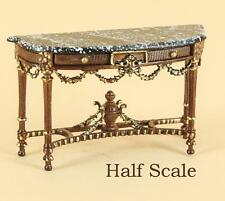 "MINIATURE DOLLHOUSE 1:24 SCALE-HALF INCH (1/2"") GISELLE CONSOLE - S-1879 NWNG"