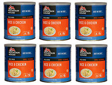6 - Cans - Rice & Chicken - Mountain House Freeze Dried Emergency Food Supply