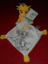 Doudou Simba le Roi Lion Mouchoir écru jaune My Little King Neuf Disney Baby 9F