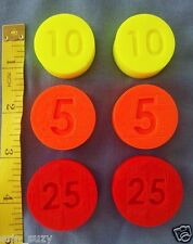LOT 6 Replacement Coins compatible Fisher Price Cash Register 2044 & 926 91-94