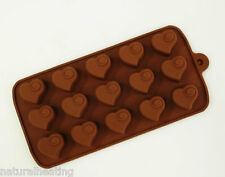 15 cell Heart Swirl Silicone Chocolate Box Mould Molds Professional Bakeware