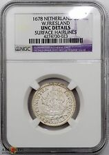 1678 Netherlands West Friesland 6 Stuivers UNC Details NGC - Rare Issue