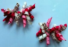 Gymboree Girls Hair Clips x 2 - White, and Pink, Brand New (G111)