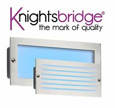 Knightsbridge Low Energy LED Bricklight Outdoor Garden Patio Brick Light Blue