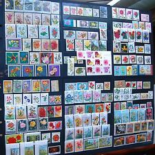 Collection Of Flowers On Stamps 200 All Different Many Very Fine Used