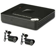 CCTV 500GB 4 Channel H.264 D1 Network Mini DVR HDMI System & 2 x CMOS Cameras
