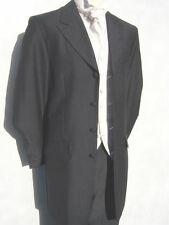 "GREY PRINCE EDWARD EX HIRE 48"" 3XL CHEST WEDDING 3/4 TEDDY BOY DRAPE JACKET."