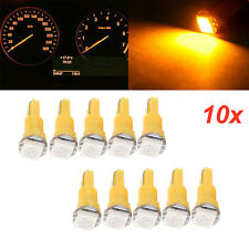 10pcs T5 74 85 Wedge 5050 SMD Car LED Light Bulb Yellow Instrument Gauge Cluster