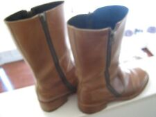 DKNY, MENS , Brown Leather, Double Zipper , Beatle Boot ,SIZE 10D,Made In Spain