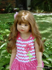 """Masterpiece Coco * Monika Levenig 39"""" Brunette Jointed Vinyl Doll Extra Outfit"""