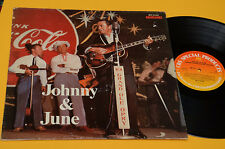 JOHN CASH LP JOHNNY & JUNE ORIG OLANDA 1978 EX+ PUBBLICITA' COCA COLA TOP  COLLE