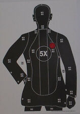 Exploding B-21 Style Pistol-Rifle Silhouette Shooting Targets - 14x20 - 20 Qty.