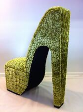 Stiletto shoe Chair - In your choice of fabric - Stunning design - chic - retro