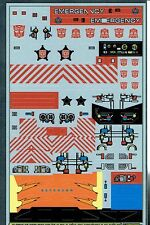 TRANSFORMERS GENERATION 1, G1 AUTOBOT PROTECTOBOTS REPRO LABELS / STICKERS