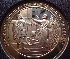 Thomason Medallic Bible 42: JEROBOHAM ORDERS THE MAN OF GOD SEIZED Franklin Mint
