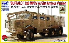 "6X6 MPCV ""BUFFALO"" w/ SLAT ARMOUR VERSION U.S.ARMY BRONCO 1/35 PLASTIC KIT"