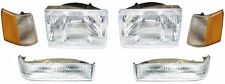NEW 97- 98 JEEP GRAND CHEROKEE HEADLIGHTS HEADLAMPS CORNERS PARK/SIGNAL 6 PC SET