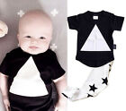 Cute 6 12 18 24 Months Clothes Baby Infant Girl Boy t-shirt + Pant Outfit Set