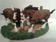 Budweiser CLYDPAK Clydesdale Figurines Set of 5 Same Serial Number