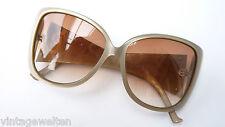 Aigner Luxus-Sonnenbrille XXL-Gläser Acetat Goldlogo überbreiter Bügel Marke