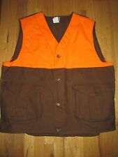 Filson VTG Blaze Orange Tin Cloth Upland Hunting Vest 631B Men's XXXL WOR