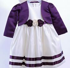 Baby Girls Satin Occasion Party  Dress  & Bolero by Visara size 0-3 months