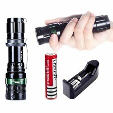 CREE Zoomable Ultrafire 5000LM XM-L T6 LED Flashlight Torch Lamp +18650 +Ch