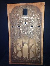 """Early 25 7/8"""" Stromberg Carlson Floor Radio Cabinet Face Plate Panel"""