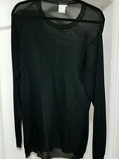 YOHJI YAMAMOTO DESIGNER BLACK ONE OFF PIECE TOP SIZE MEDIUM