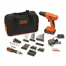 Black & Decker BDC120VA100 20-Volt MAX Lithium-Ion Drill Kit w. Acce, Fast Ship