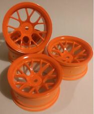 Rc voiture 1/10 drift y jantes wheels 9mm offset pour Tamiya HPI orange 12mm hex