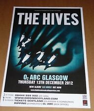 THE HIVES - rare tour concert / gig poster - dec 2012