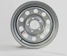 "Trailer Rim Wheel 14"" x 5.5"" 5 Lug Hole Bolt Wheel Silver Modular Design"